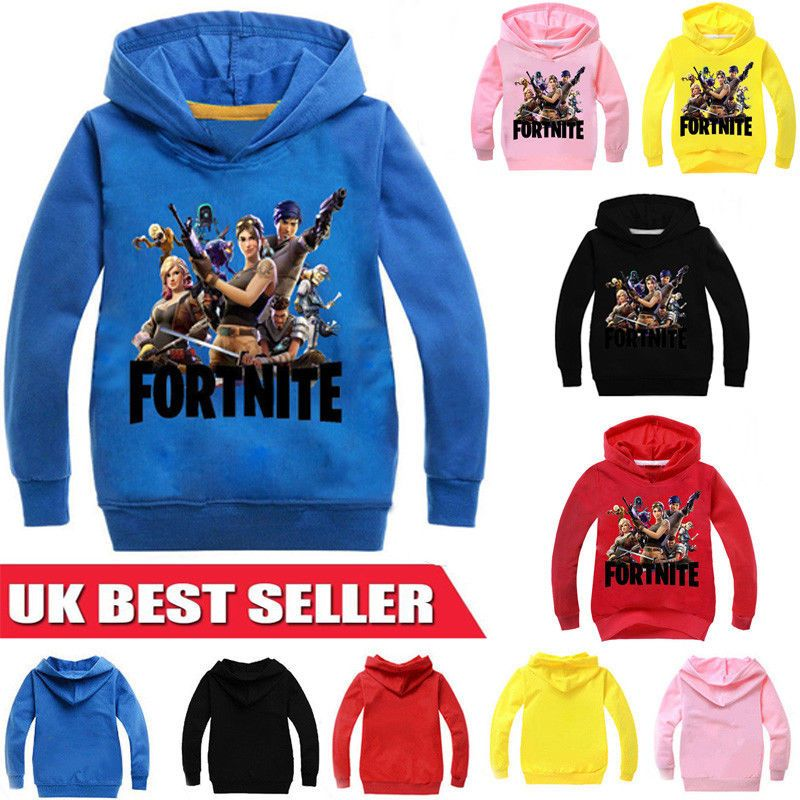 UK New  Kids Casual Hoodie Sweatshirt Pullover Long Sleeve Jumper