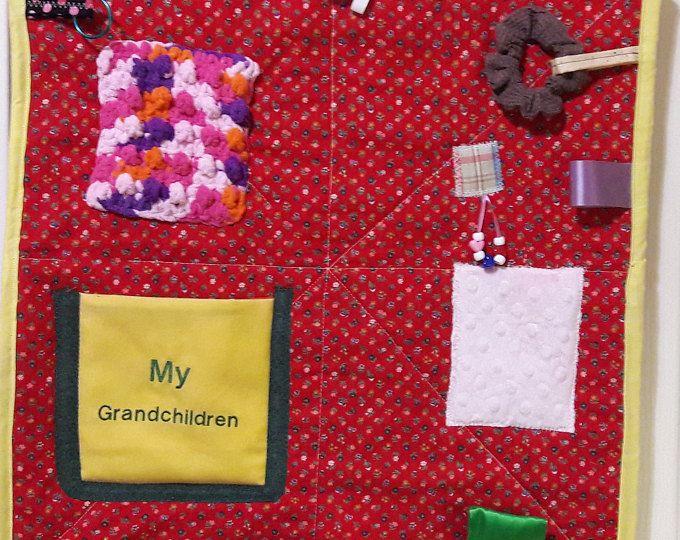 Fidget Quilt For Dementia Patient Alzheimer Activity Blanket Wheelchair Patients Gift Grandmother