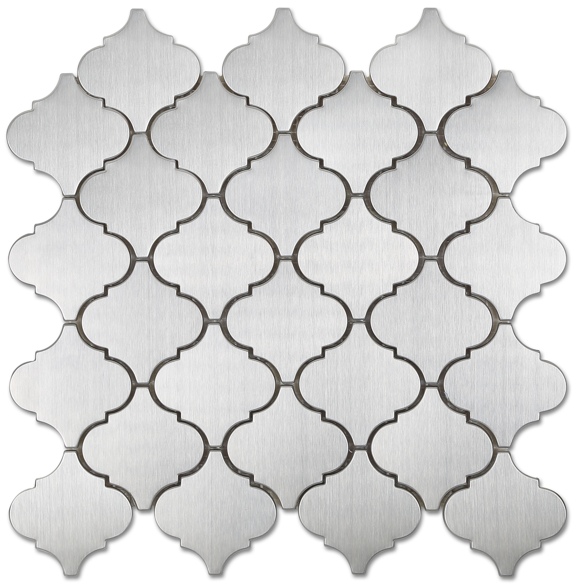 Arabesque stainless steel metal mosaic tile available online from this will be our backsplash kitchen arabesque metal mosaic stainless steel tile the builder depot dailygadgetfo Image collections