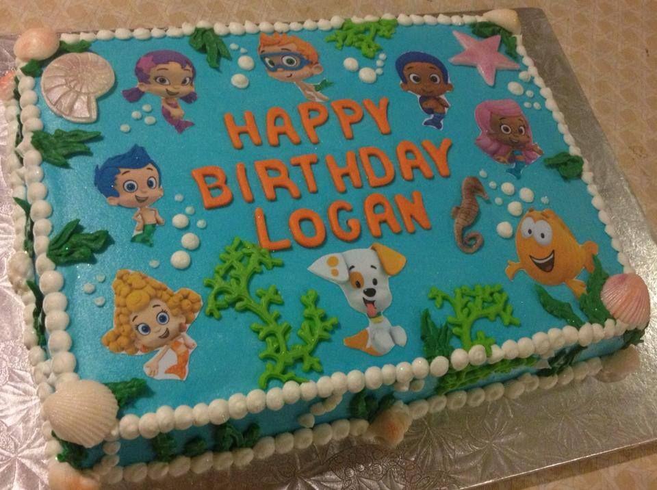 Children S Birthday Cakes Bubble Birthday Bubble Guppies Birthday Bubble Birthday Parties