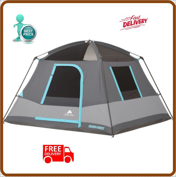 Ozark Trail 6-person Dark Rest Frp Cabin Tent C&ing Hiking Outdoor Sports+Bag | Cabin tent  sc 1 st  Pinterest & Ozark Trail 6-person Dark Rest Frp Cabin Tent Camping Hiking ...