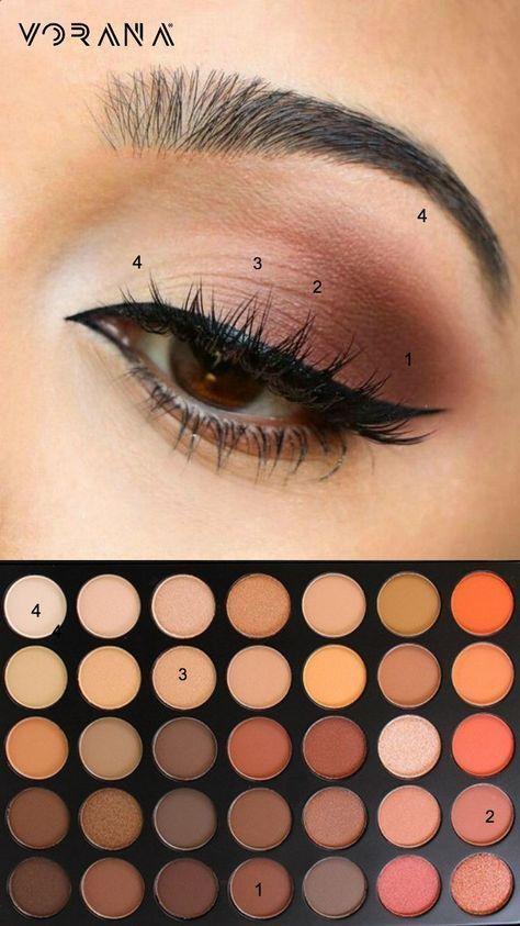 Einfache Augen Make-up-Tipps für Anfänger, die nehmen .. #eyeshadow #eyemakeup #be … – Make-up Geheimnisse