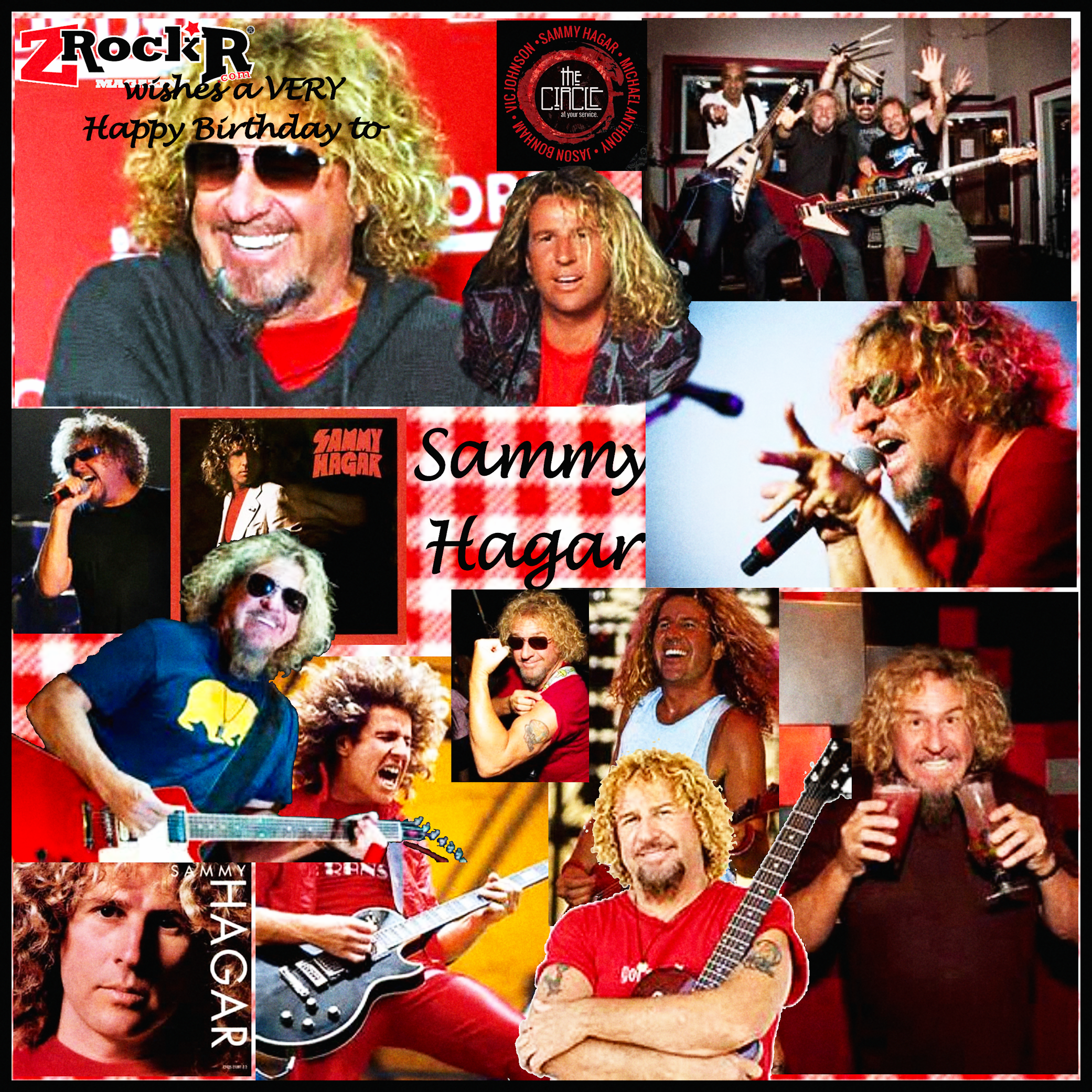 Sammy Hagar Collage By Photoartist Lisakay Allen Passionfeast Sammy Hagar Photo Posters Game Artwork