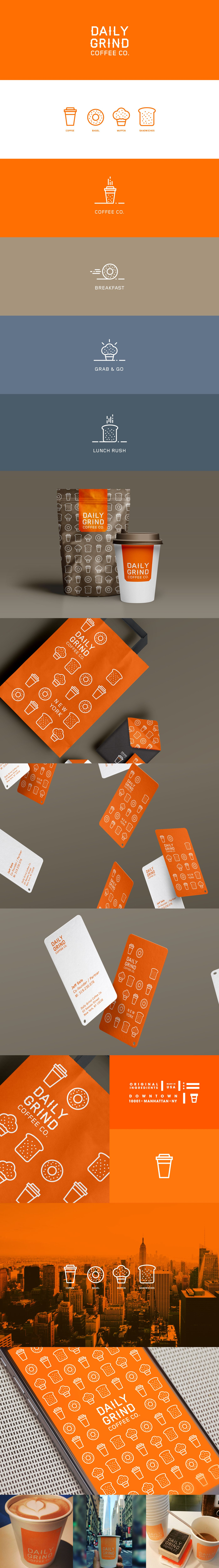 Daily grind coffee co on behance corporate design