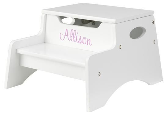 Personalized step n store step stool white learning tower and personalized step n store step stool white negle Gallery