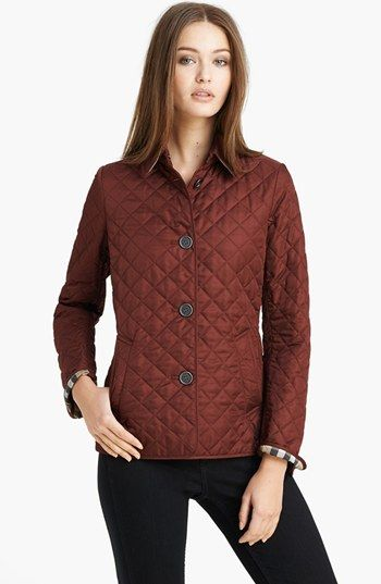 Burberry Brit Copford Quilted Jacket Available At Nordstrom Jackets Clothes Quilted Jacket