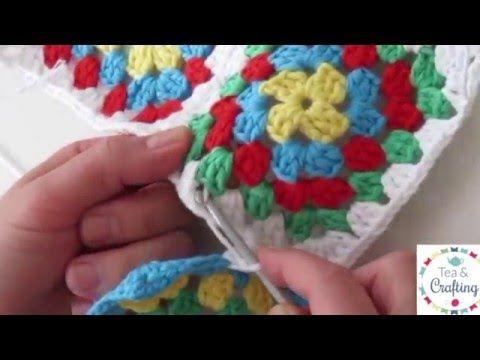 Joining Granny Squares Together Method 2 Lets Crochet Em Youtube Granny Square Crochet Pattern Granny Square Crochet Patterns