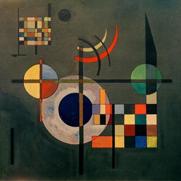 image wassily kandinsky counterweights 1926 geometrische malerei abstrakte kunst museum der modernen moderne bunt