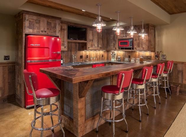 Industrial bar lighting remodeling pinterest bar para el 50 elegant industrial style home bar ideas aloadofball Image collections