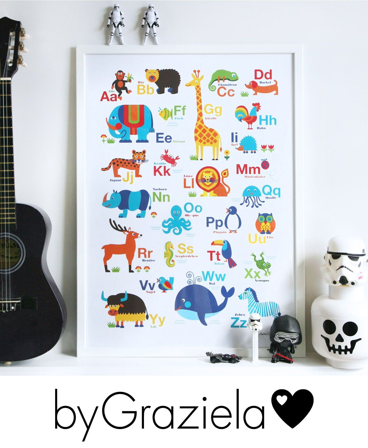 tier abc poster  abc poster poster kinderzimmer