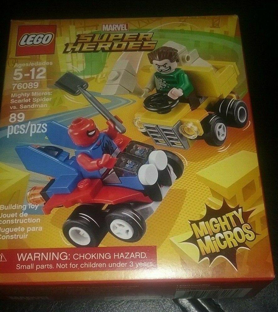 Scarlet Spider Vs 76089 LEGO Marvel Super Heroes Mighty Micros Sandman 89 Pcs