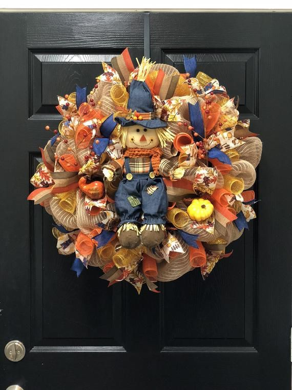 Scarecrow Wreath, fall scarecrow wreath, fall wreath, fall decor, front door wreath, scarecrows, scarecrow #scarecrowwreath