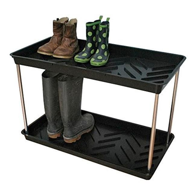 Tdi Brands Gp105b Tierra Garden Black 2 Tier Boot Tray Boot Tray