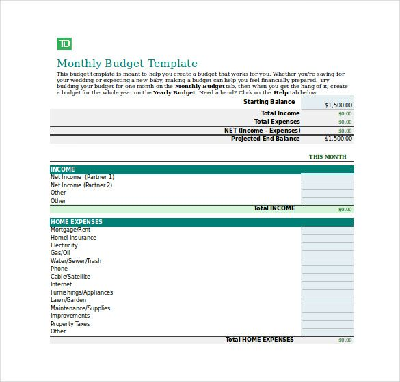 Rmi Personal Budget Worksheet Excel Format  Budget Tracking