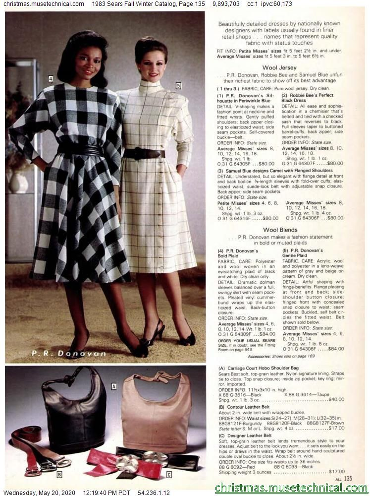 1983 Sears Fall Winter Catalog, Page 135 - Christm