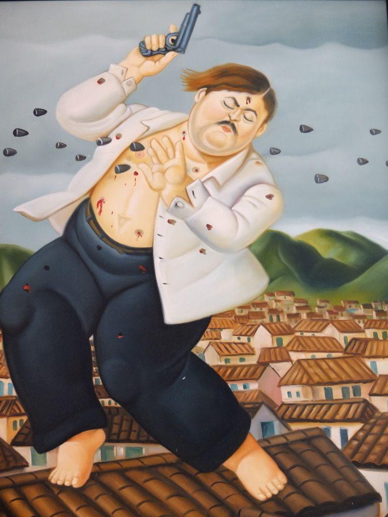 La Muerte De Pablo Escobar By Fernando Botero