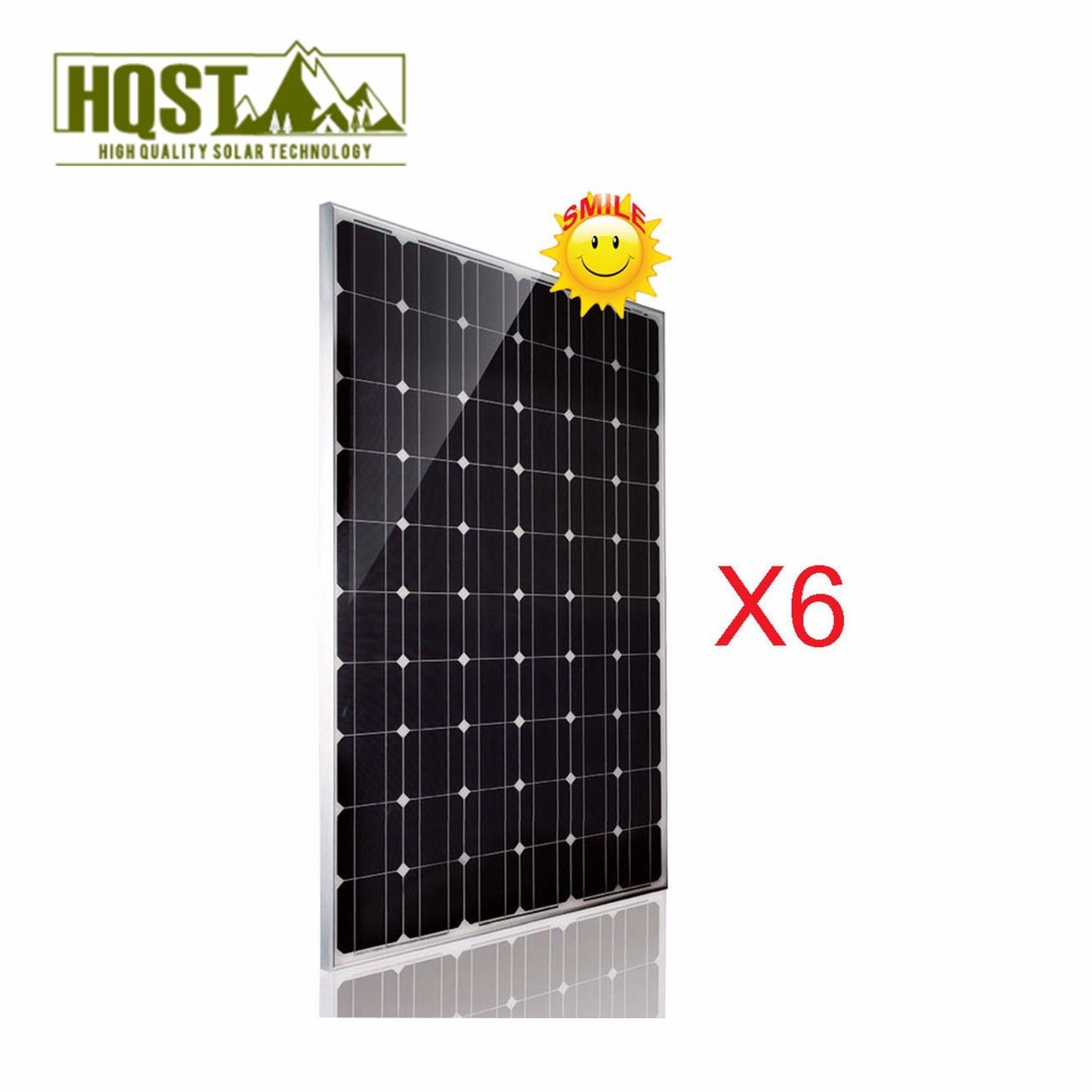 1 5kw 24v Solar Panel Mono 6 Pc 250 Watt 24 Volt Rv Boat Off Grid