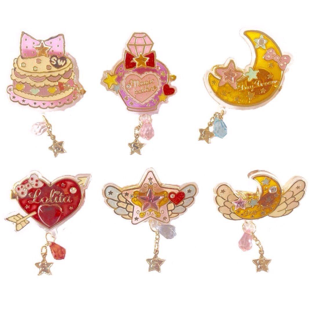 26.90$  Watch now - http://vinnu.justgood.pw/vig/item.php?t=r6552042908 - Swimmer Glittery Plastic Hair Clip Lolita Japanese Fashion Kawaii Fairy Key 26.90$
