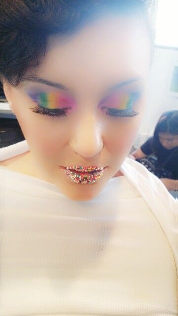 Photoshoot makeup Candyland