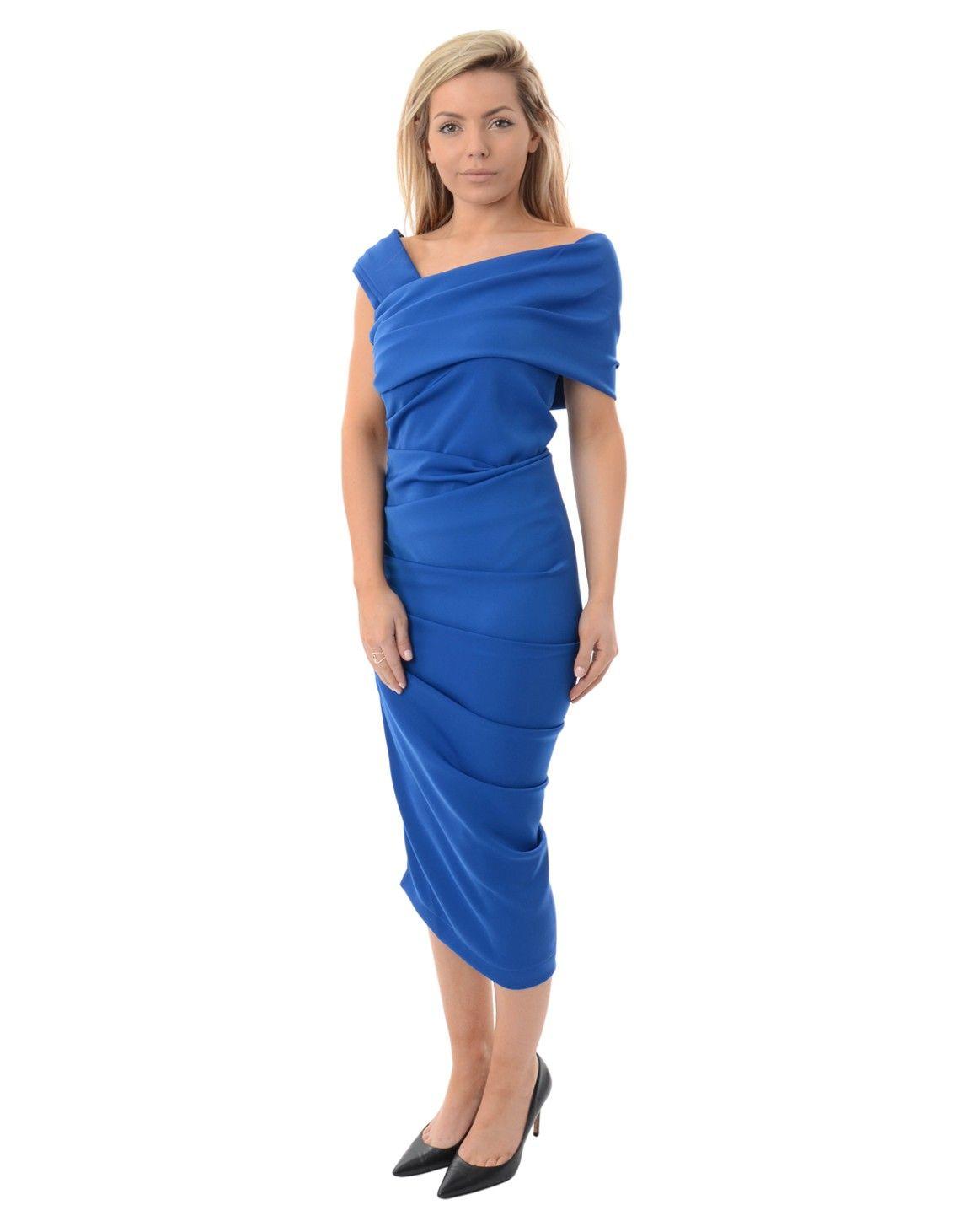 e26f7d961a Kevan Jon Cobalt Blue Halia Dress