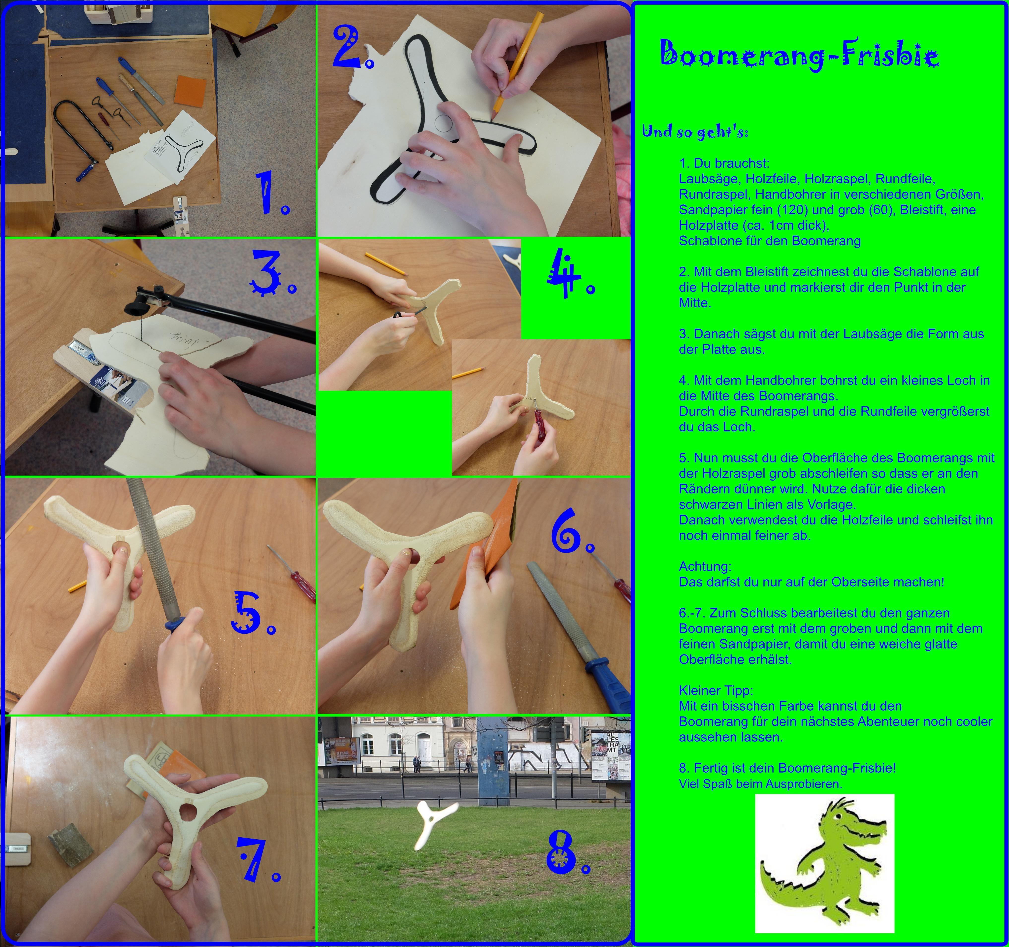 Boomerang-Frisbie zum Selbermachen   Holz für Kinder/ Wood And Kids ...