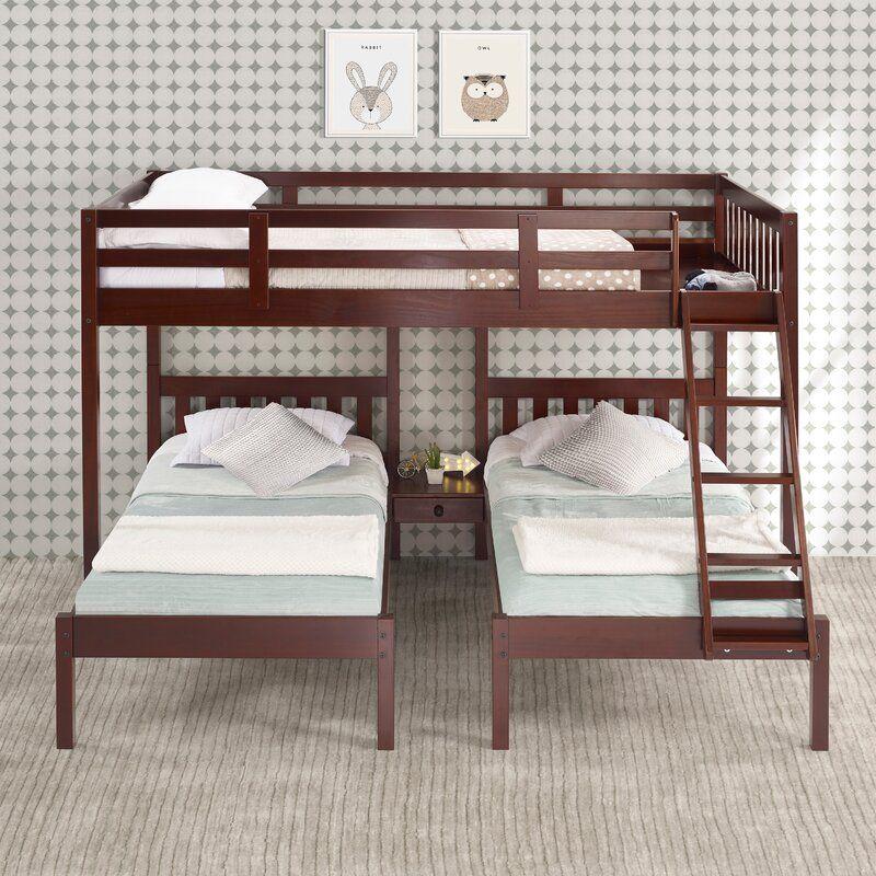 harriet bee ayasha twin over full triple bed reviews wayfair bunk beds queen board rooms to go