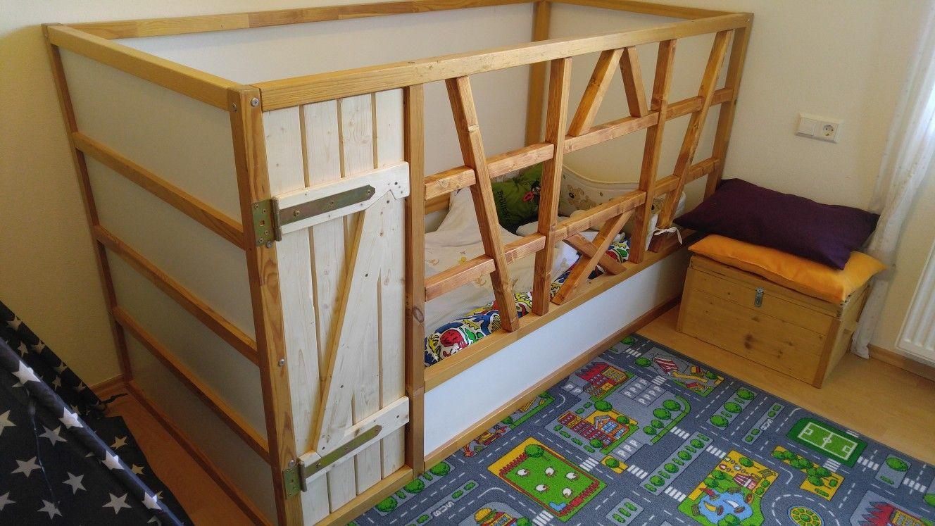 Ikea Kura Bett Mit Fachwerk Optik Verschonert Meine Basteleien