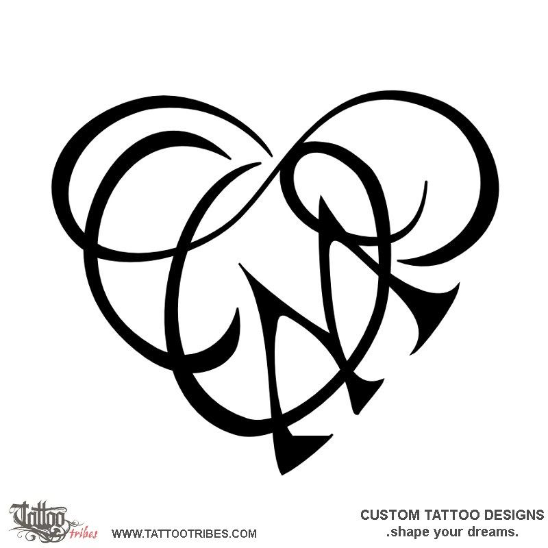 O C M Infinity Heart Love This Heartigram Symbolizes Union And Neverending Love The O Letter From O Love Tattoos Heart With Infinity Tattoo Tattoo Lettering