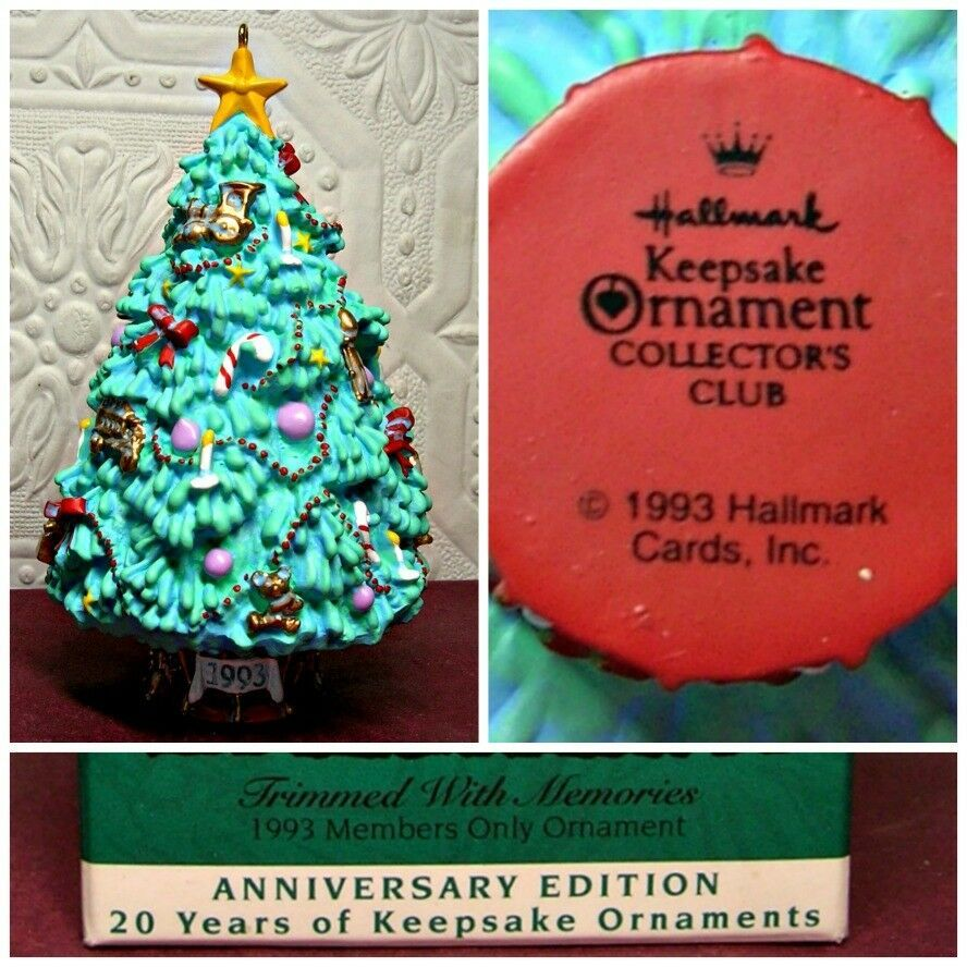 Details about 1993 Hallmark Ornament TRIMMED WITH MEMORIES