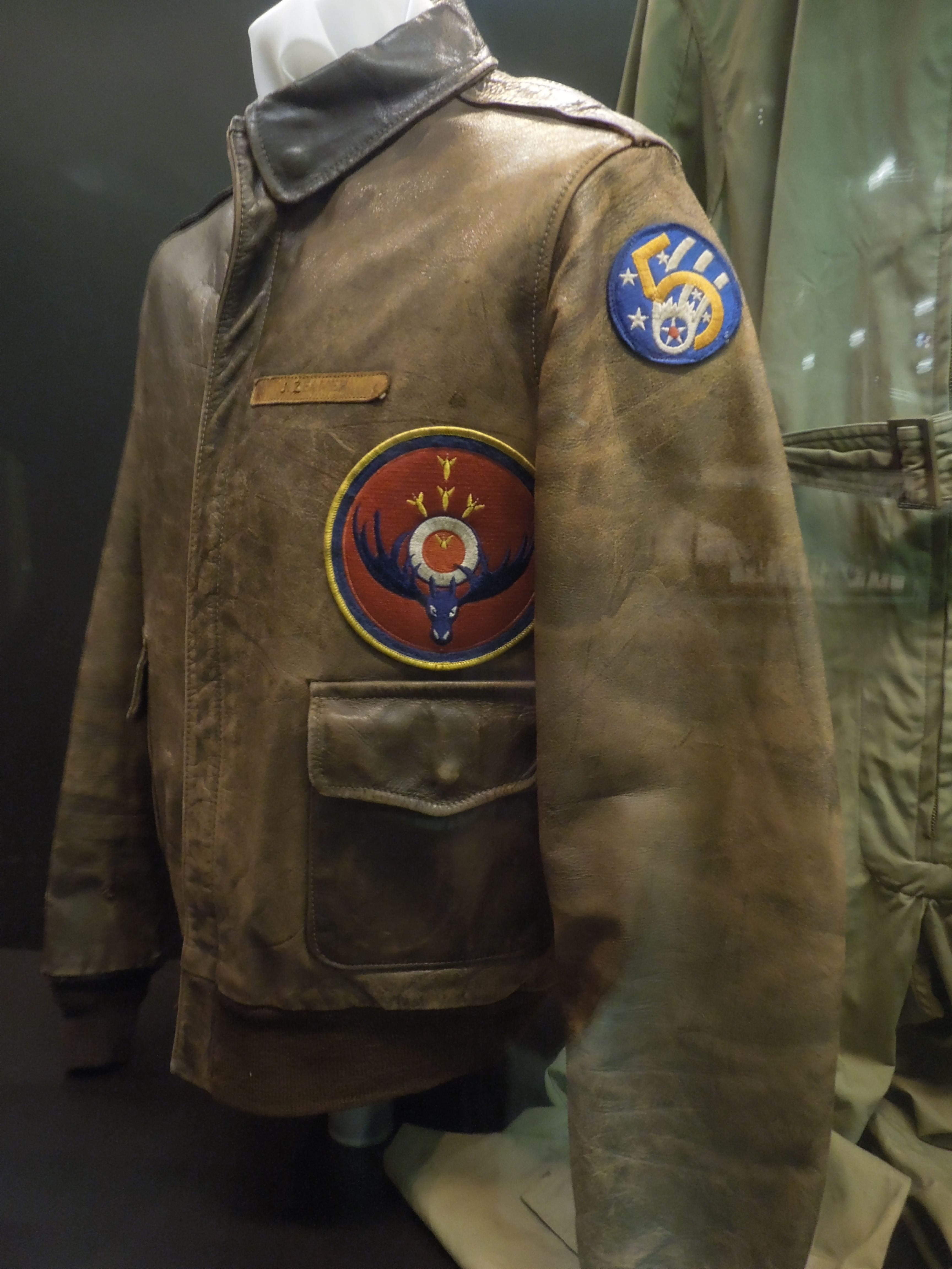 Vintage Bomber Jacket United States Air Force Museum Wright Patterson Air Force Base D Bomber Jacket Vintage Leather Flight Jacket Painted Leather Jacket [ 4608 x 3456 Pixel ]