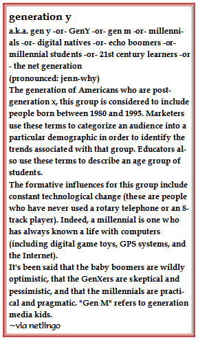 Generation Y A K A Gen Y Or Geny Or Gen M Or Millennials Or Digital Natives Or Echo Boomers Or M Millennials Generation Generation Echo Boomers