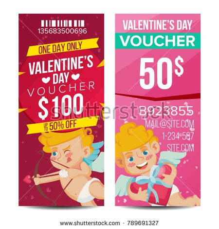 Valentine s Day Voucher Template Vector Vertical Free Card - payment voucher template