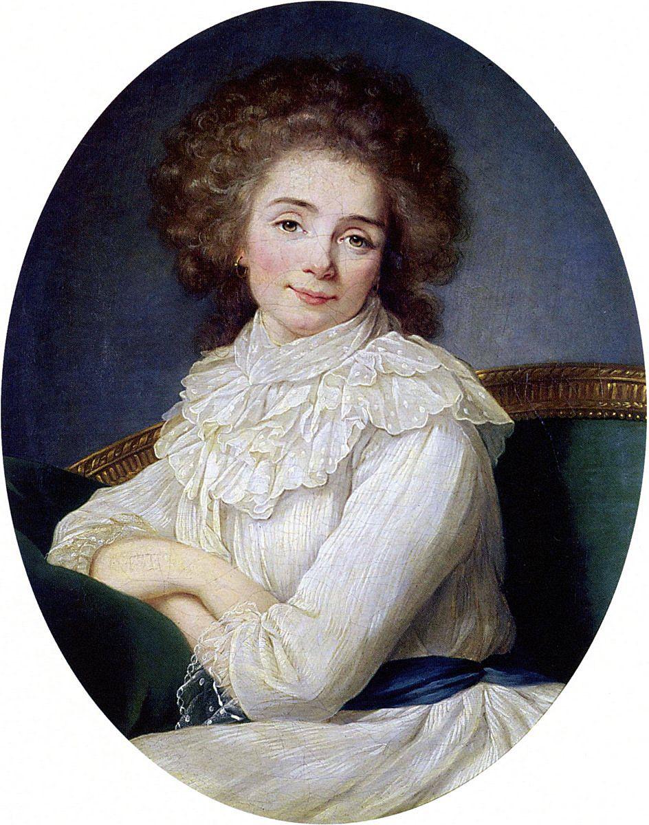 Louise Éléonore Mélanie Delphine de Sabran-Pontevès, Comtesse de Custine  (1770 - 1826) / By Vigée-Lebrun. | Pittura di moda, Rivoluzione
