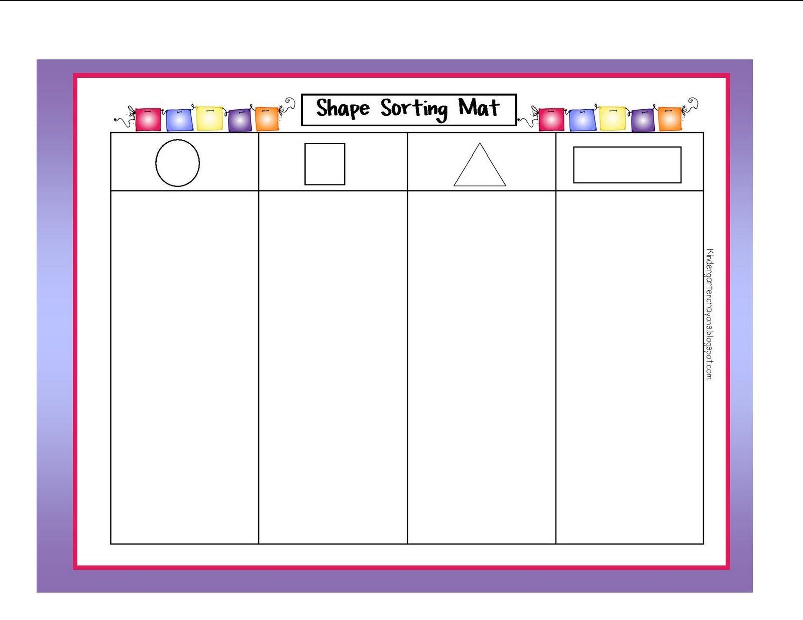 worksheet Shape Sorting Worksheet For Kindergarten sorting by size worksheets kindergarten crayons stomp your feet on more of my math
