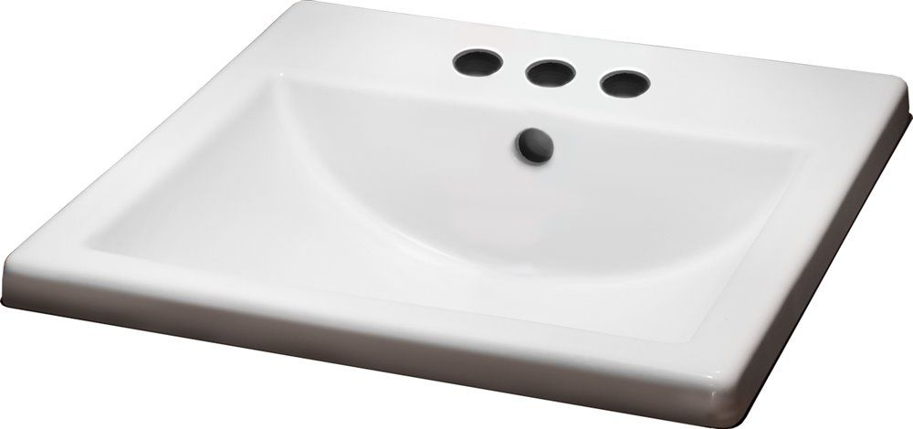 American Standard Marquette White Drop In Rectangular Bathroom Sink With Overflow At Lowe S Canada
