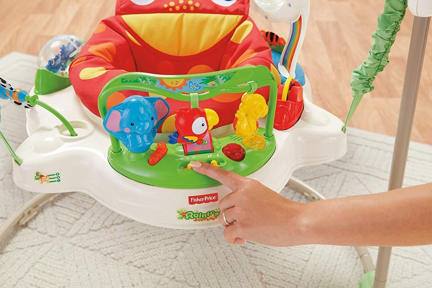 Details About Fisher Price Rainforest Jumperoo Baby Jumper Walker Bouncer Activity Seat 3daysh Fisher Price Rainforest Jumperoo Baby Bouncer Fisher Price Jumperoo