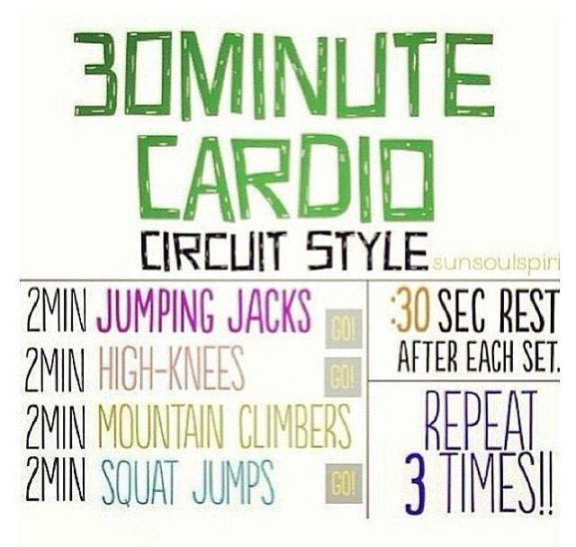 30 minute cardio circuit