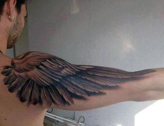 Tatuaże Męskie Na Ramie Skrzydło Tattoos Tatuaże Męskie