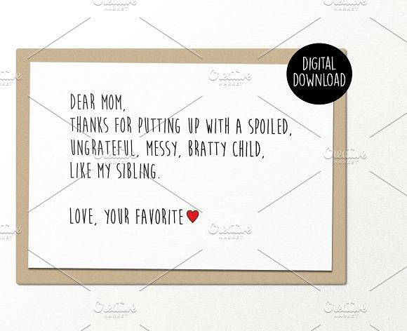 Dear Mom MotherS Day Card  Dear Mom And Card Templates