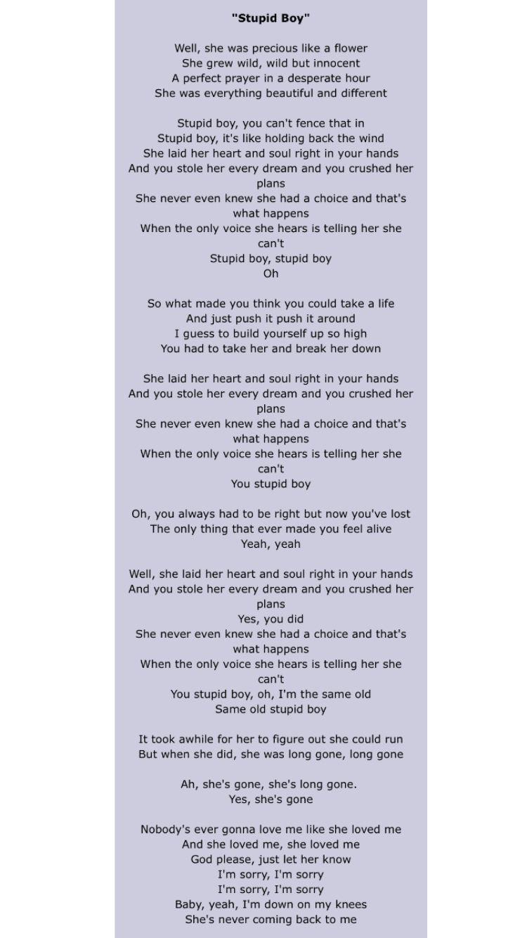 i like boys lyrics