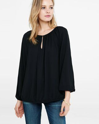 Banded Bottom Blouse From Express Marlana S Spring Style Spring