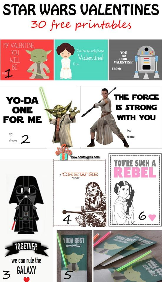 30 Free Star Wars Valentines to Print | I Need to Try This ...