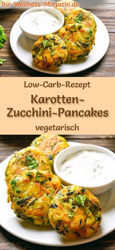 Low Carb Karotten-Zucchini-Pancakes - gesundes, vegetarisches Hauptgericht