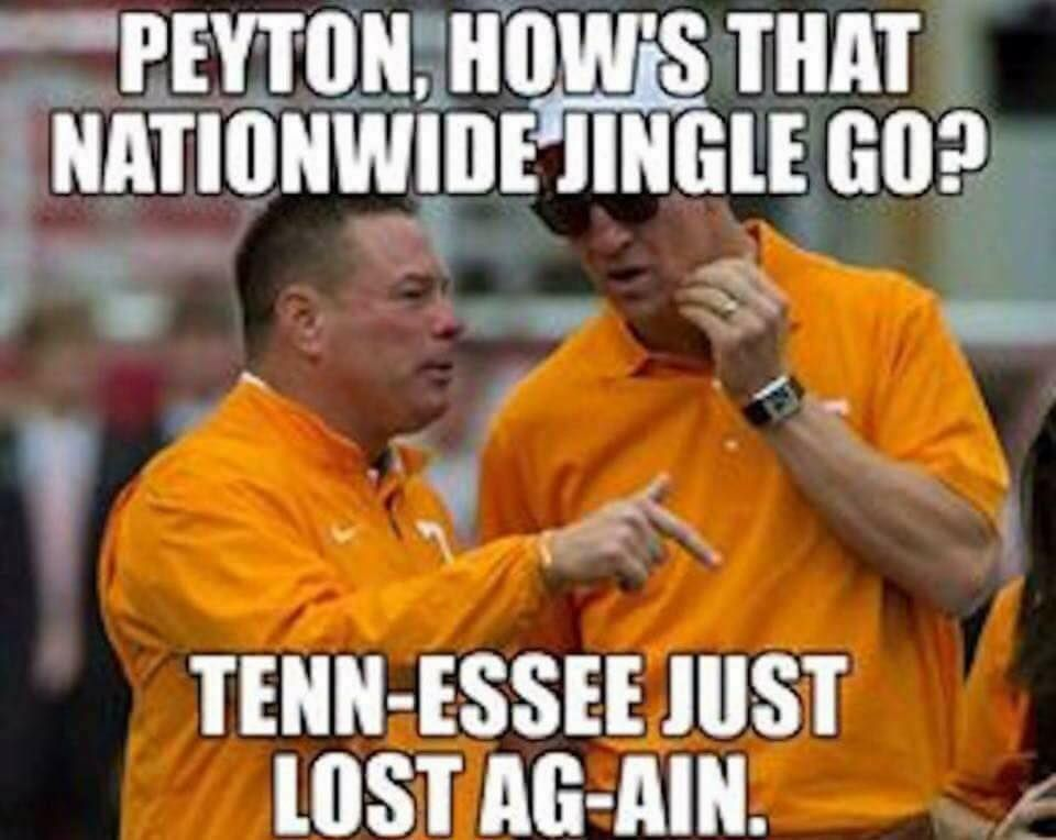 The Tennessee Memes Are Hilarious After The 41 0 Loss To Georgia Here Are The Best Ones College Football Memes Tennessee Football Alabama Football Roll Tide
