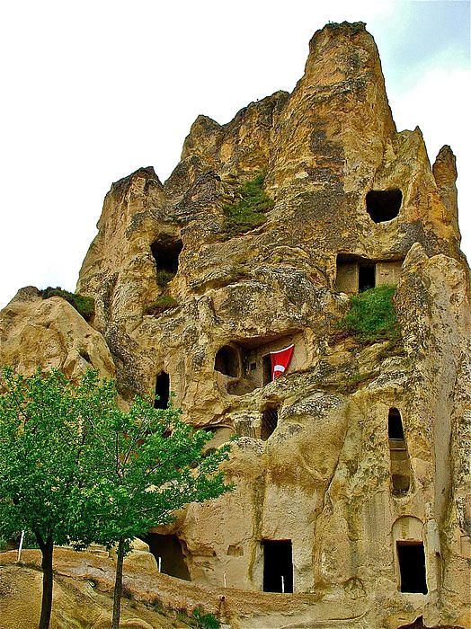 Early Christian Church carved in tufa rock, Goreme Open