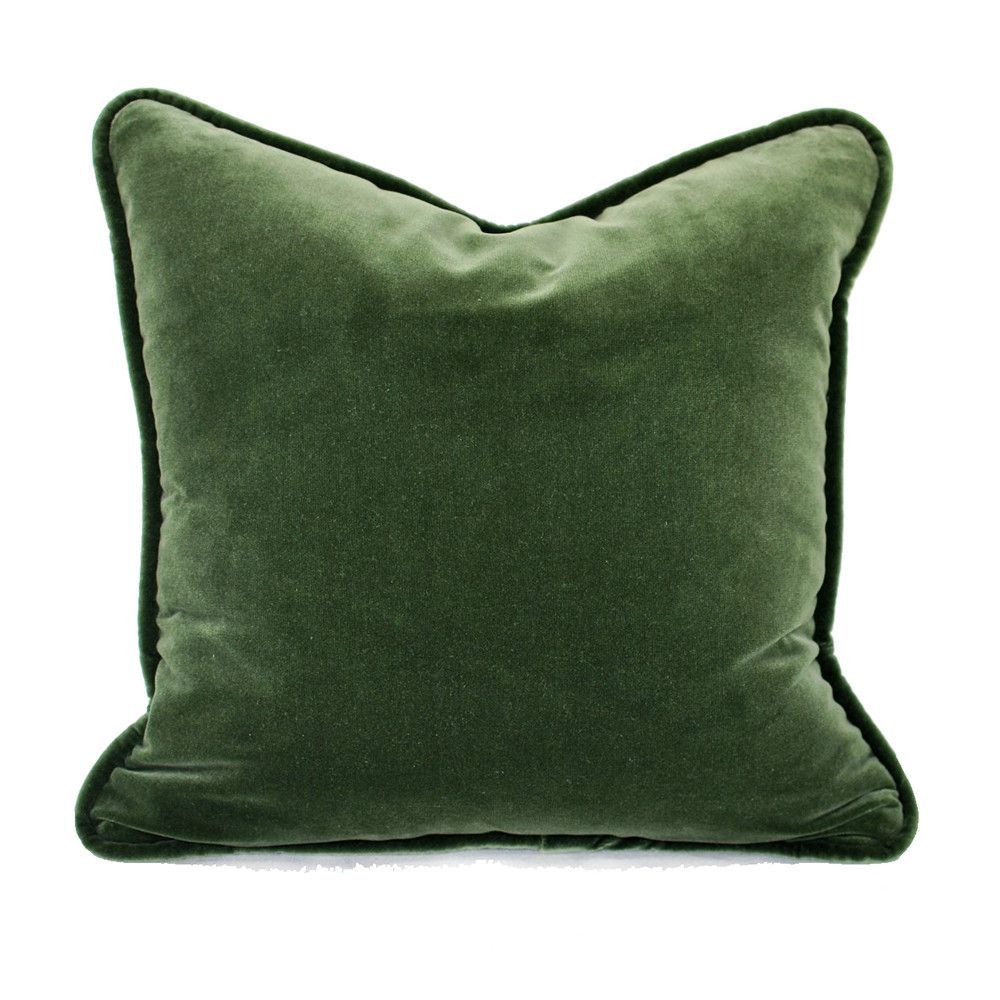 Forest Green Velvet Cushion