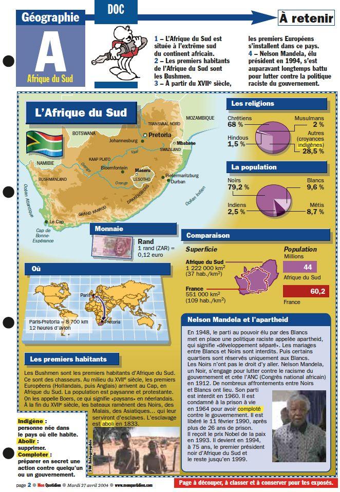 Monde Il Y A 10 Ans L Afrique Du Sud Elisait Un President Noir Afrique Du Sud Afrique Geographie