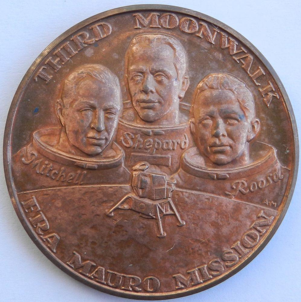 Apollo 11 Mission Commemorative Bronze Medal Rare Coin (By ...