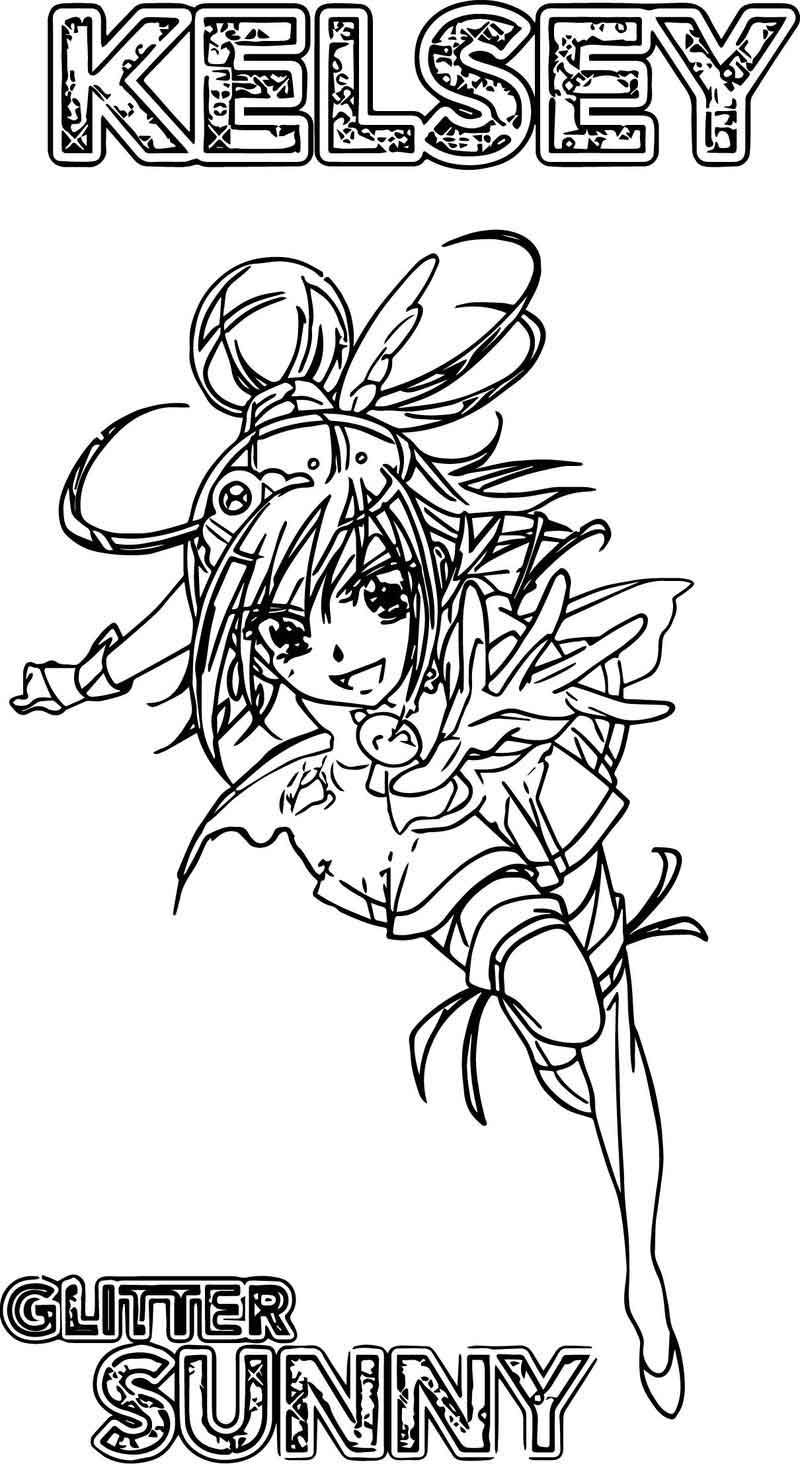 Kelsey Glitter Force Sunny Coloring Page di 2020