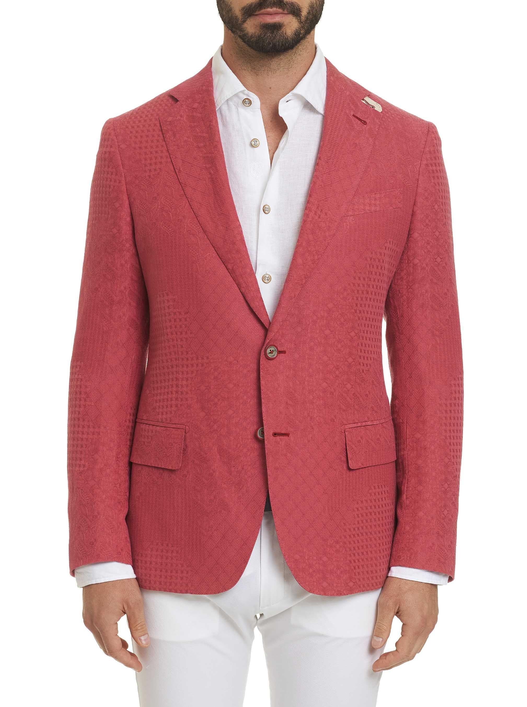 Robert Graham Men S R Collection Falco Sport Coat In Red Size 50r By Robert Graham Robertgraham Cloth Sport Coat Mens Sport Coat